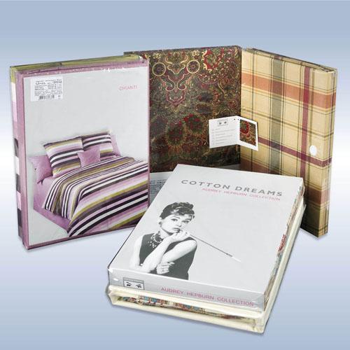 Образец упаковки комплектов постельного белья COTTON DREAMS Audrey Hepbern (Одри Хепберн)
