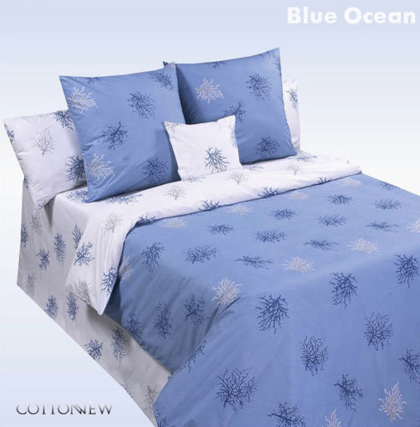 Постельное белье COTTON DREAMS Валенсия (Valensia) Blue Ocean (Голубой Океан)