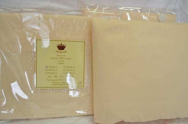 Простыни на резинке сатин 160/200 тм Kingsilk (Кингсилк)