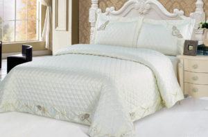 Покрывало на кровать YG-12 однотонное стеганое - CottonNew.ru
