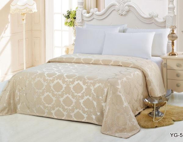 Покрывало на кровать YG-5 однотонное стеганое - CottonNew.ru