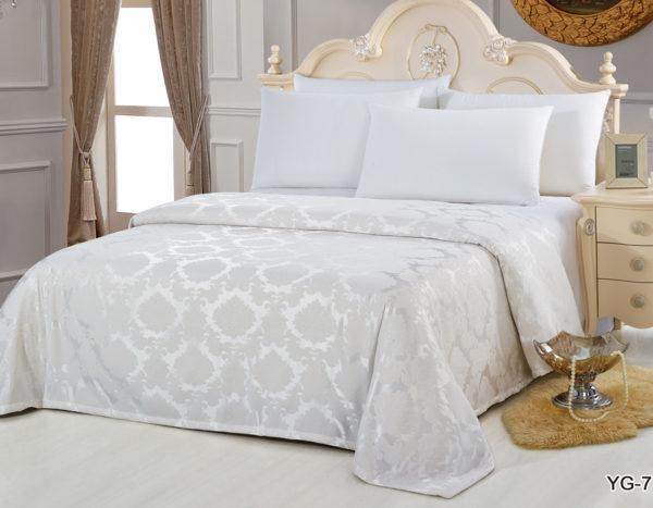 Покрывало на кровать YG-7 однотонное стеганое - CottonNew.ru