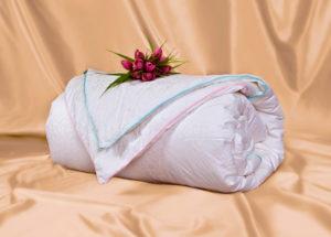 Шелковое одеяло Адам и Ева 200/220 (облегченное+всесезонное) OnSilk (ОнСилк)