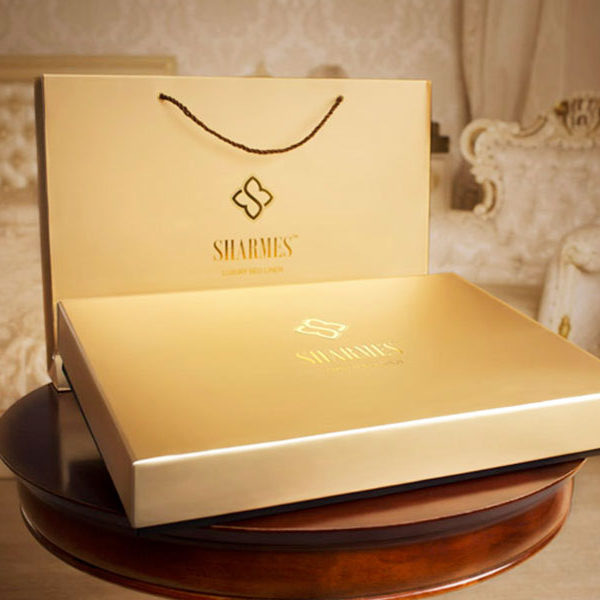 Образец подарочной упаковки постельного белья сатин Sharmes Египетский хлопок 100%