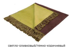 Шелковый плед Onsilk Riva 130/170 (оливковый/коричневый) купить