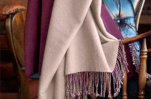 Шелковый плед Onsilk Riva 130/170 (серый/бургунд) купить