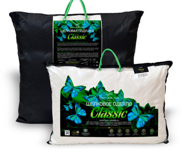 Образец упаковки шелковая подушка Onsilk Classic