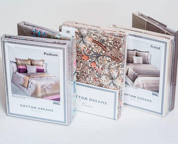Образец упаковки постельное белье мако-сатин Couture от COTTON DREAMS.