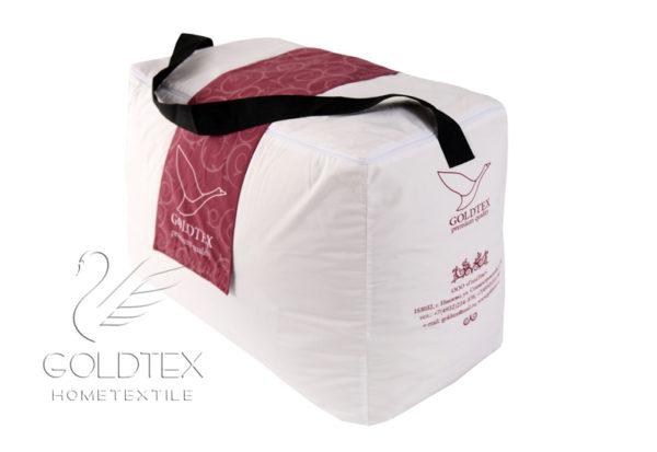 Двойное пуховое одеяло Premium Quality (белый гусиный пух 100%) GoldTex (ГолдТекс)