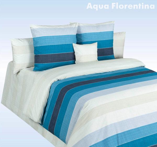Постельное белье перкаль Aqua Florentina (Аква Флорентина) Cotton Dreams Valencia