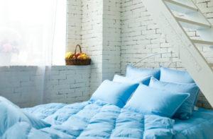 Пуховое одеяло WHITE DOWN (белый гусиный пух 100%)- GoldTex (ГолдТекс)