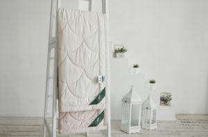 Хлопковое одеяло Anna Flaum Farbe (легкое) бежевое купить в Москве