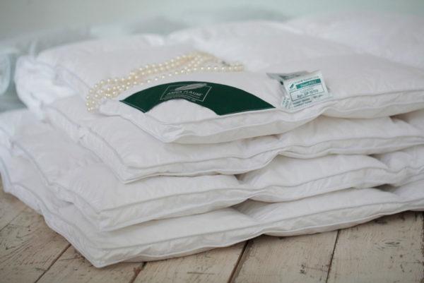 Одеяло белый гусиный пух 100% Anna Flaum Perle (теплое) купить в Москве
