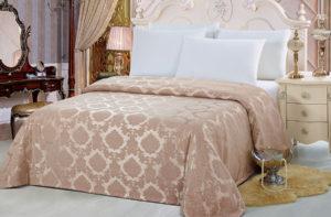 Покрывало на кровать YG-6 KINGSILK однотонное стеганое - CottonNew.ru