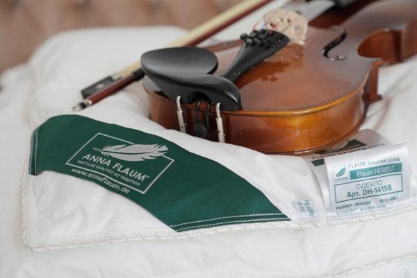 Одеяло белый гусиный пух 100% Anna Flaum Herbst (всесезонное) купить в Москве