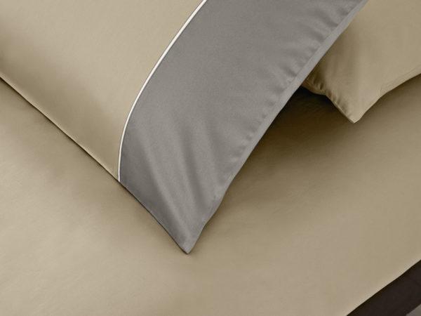 Постельное белье сатин Sharmes Dune (Cеро-бежевый/графитовый) Solid