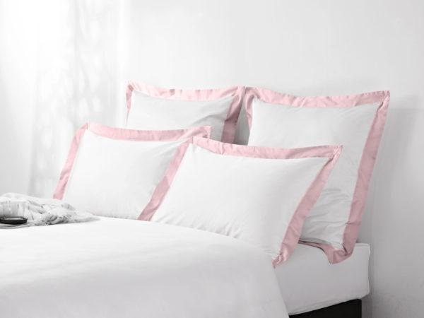 Постельное белье сатин Sharmes Fringe (Нежно-розовый) Solid