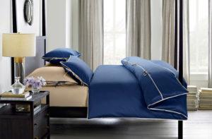 Постельное белье сатин Sharmes Luca (Темно-синий) Solid