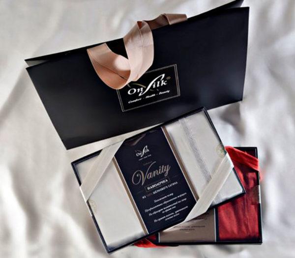 Образец упаковки шелковые наволочки Onsilk 50*70 - CottonNew.ru