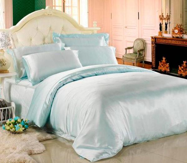 Шелковое постельное белье Luxe Dream Бирюзовый шелк 100%