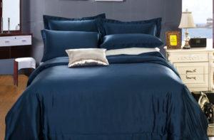 Шелковое постельное белье Luxe Dream Elite Blue (Элит Блу)