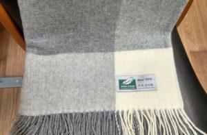 Шерстяной плед Anna Flaum LORA 140/200 серый купить