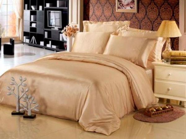 Шелковое постельное белье Luxe Dream Шампань шелк 100%