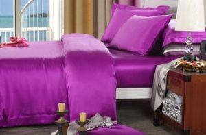 Шелковое постельное белье Luxe Dream Фиолетовый шелк 100%