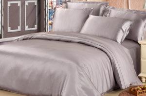 Шелковое постельное белье Luxe Dream Silver (Серебро) шелк 100%