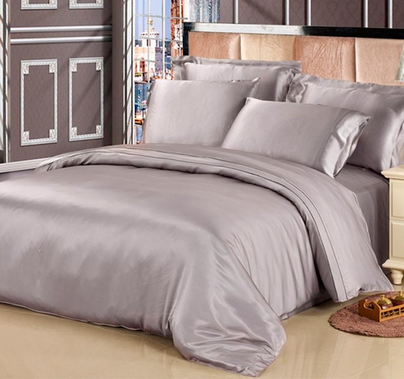 936ab606090e Шелковое постельное белье Luxe Dream Silver (Серебро) шелк 100%. Шелковая  простыня на резинке ...