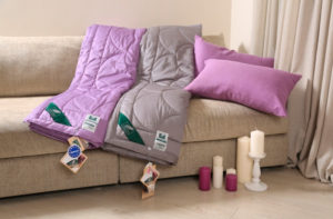 Хлопковое одеяло Anna Flaum Farbe (легкое) фиолетовое купить в Москве