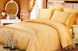 Шелковое постельное белье Luxe Dream Золотой шелк 100%
