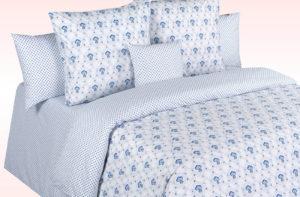 Постельное белье перкаль Cotton Dreams Blue Marine (Блу Марин) Valencia