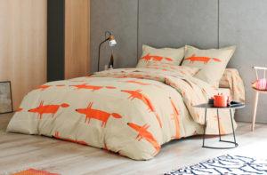 Постельное белье сатин Scion Mr.Fox orange Великобритания