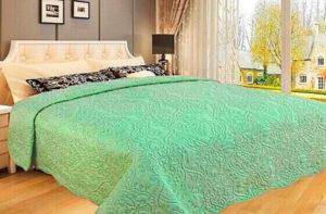 Покрывало на кровать Diva Afrodita 34-2 зеленое