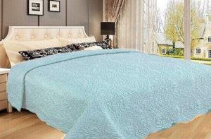 Покрывало на кровать Diva Afrodita 34-4 голубое