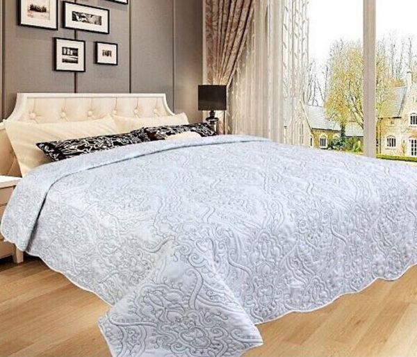 Покрывало на кровать Diva Afrodita 34-5 белое CottonNew.ru