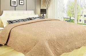 Покрывало на кровать Diva Afrodita 34-6 песочное CottonNew.ru