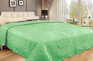 Покрывало на кровать Diva Afrodita 35-2 светло-зеленое CottonNew.ru