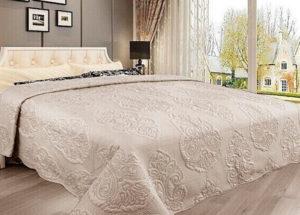 Покрывало на кровать Diva Afrodita 35-3 бежевый CottonNew.ru