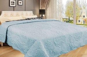 Покрывало на кровать Diva Afrodita 35-4 голубое CottonNew.ru