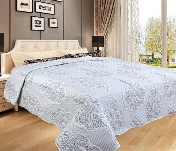 Покрывало на кровать Diva Afrodita 35-5 белое CottonNew.ru