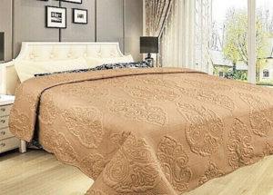 Покрывало на кровать Diva Afrodita 35-6 песочное CottonNew.ru