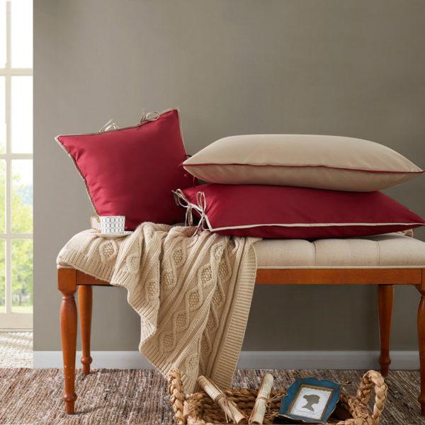 Постельное белье сатин Sharmes Luca (Бордовый) Solid