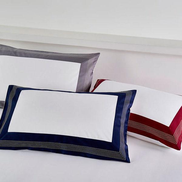 Постельное белье сатин Sharmes Merrow Stitch (Графитовый)