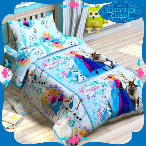 Детское постельное белье Этель Disney Холодное сердце хлопок 100%
