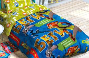 Детское постельное белье Этель Disney Зверополис хлопок 100%