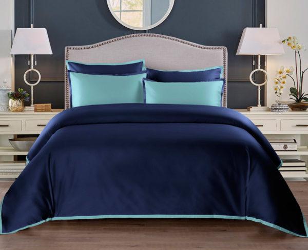 Постельное белье сатин Sharmes Coctail (Темно-синий)