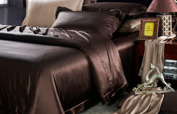 Шелковая наволочка Luxe Dream Шоколад 2 шт. шелк 100%