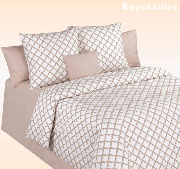 Постельное белье перкаль Cotton Dreams Royal Lilies (Королевские Лилии)